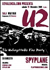 Fiesta Tributo U2 Spyplane 'The Unforgettable Fire Party' Wah Wah Valencia 9 Diciembre 2009