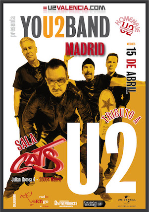 Cartel You2band Madrid