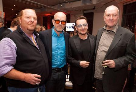 Mario Batali, Michael Stipe, Bono y Sean Scully