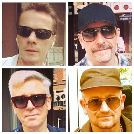 Larry Mullen Jr, The Edge, Adam Clayton y Bono en NY