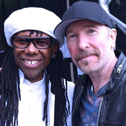 Nile Rodgers y The Edge en Dublín