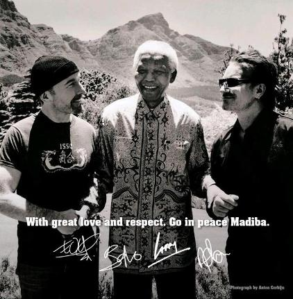 The Edge, Madiba y Bono