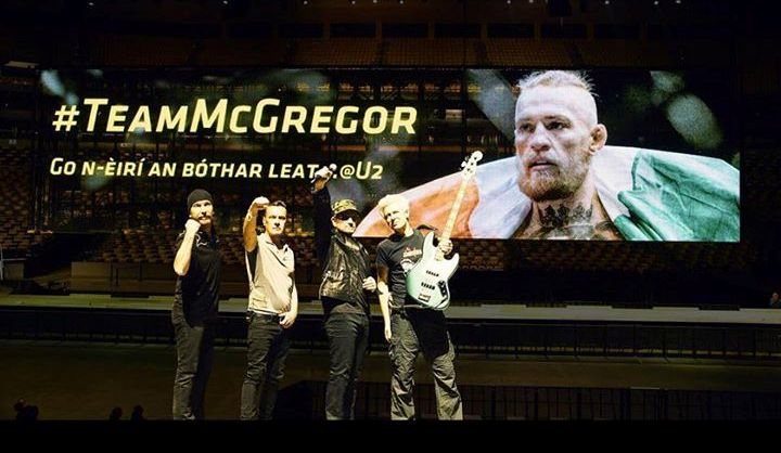 U2 con Conor McGregor