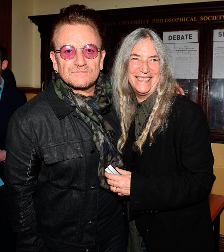 Bono con Patti Smith