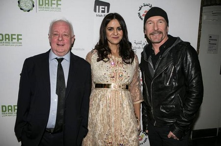 The Edge junto a Jim Sheridan y Zahara